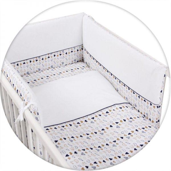 CEBABABY gultas veļas komplekts no 3 daļām 135х100cm Amore
