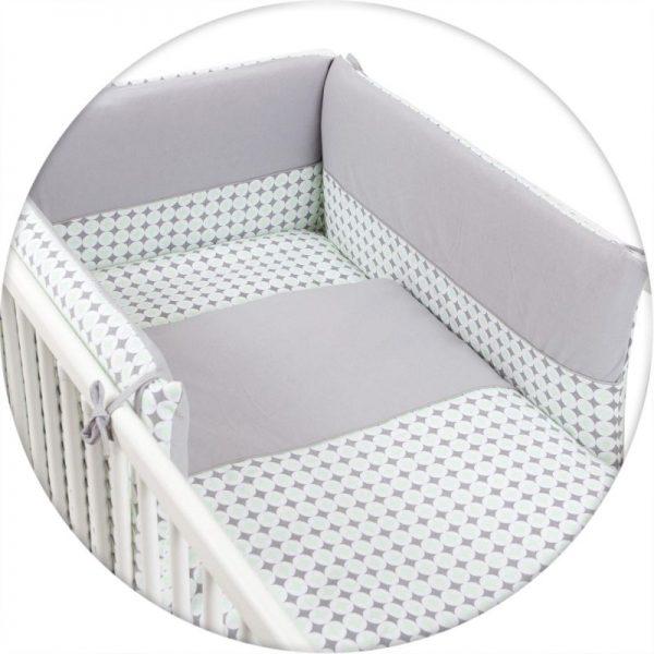 CEBABABY gultas veļas komplekts no 3 daļām 135х100cm Diamonds & Circles