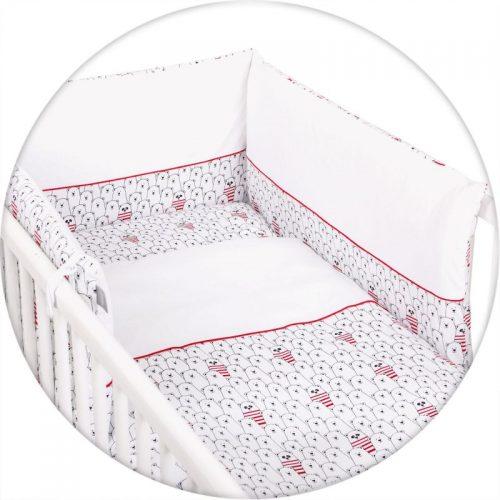 CEBABABY gultas veļas komplekts no 3 daļām 135х100cm Panda SARKANS