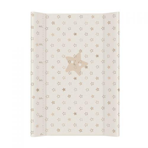 CEBABABY pārtinamā virsma ar cietu pamatni 70x50cm STARS BEIGE