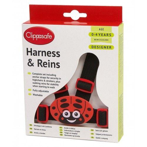 CLIPPASAFE 10D Designer Ladybird Harness & Reins (with Anchor Straps) Pavadiņas/drošības siksnas CL031