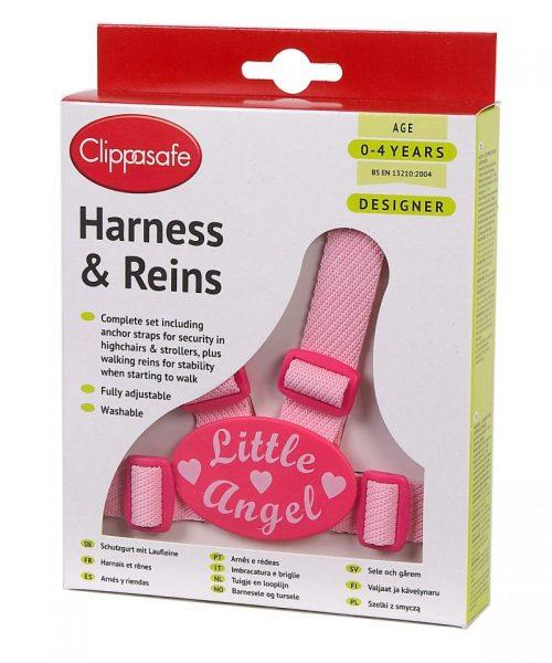 CLIPPASAFE 10D Little Angel Designer Harness (with Reins & Anchor Straps) Pavadiņas/drošības siksnas CL036