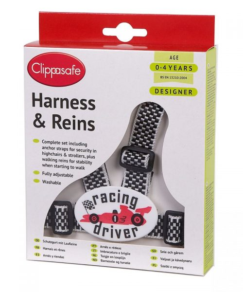 CLIPPASAFE 10D Racing Driver Designer Harness (with Reins & Anchor Straps) Pavadiņas/drošības siksnas CL030