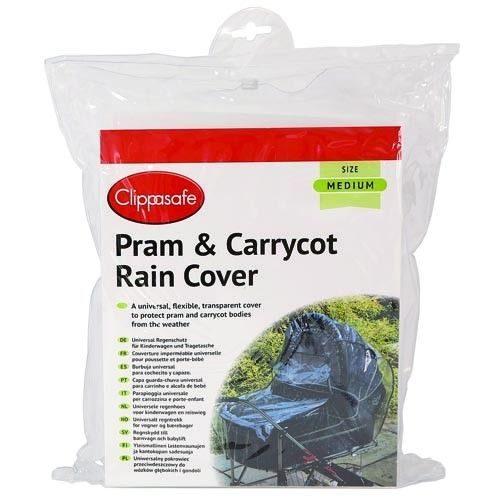 CLIPPASAFE 15/1 Universal Pram / Carrycot Rain Cover – Medium Size lietus plēve ratiem M , CL241