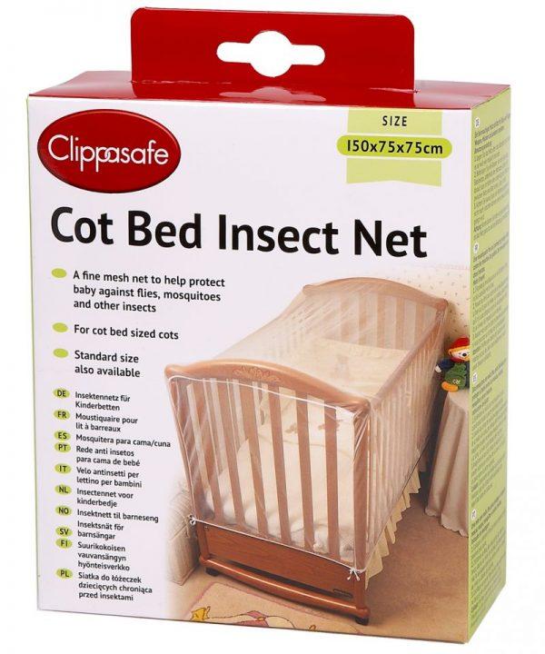 CLIPPASAFE 4CB Cot Cat Net Moskītu tīkls gultām 150x75x75cm CL175