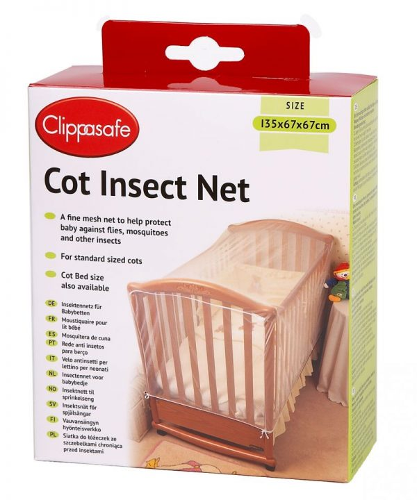 CLIPPASAFE 4S Cot Cat Net Moskītu tīkls gultām 135x67x67cm CL170