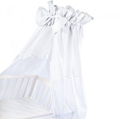 KLUPS Baldahīns kokvilna ar tillu 150x200cm – balts