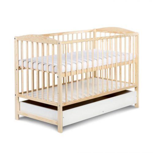 KLUPS RADEK II bērnu gulta ar atvilktni 120x60cm, priede