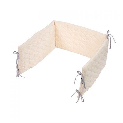 KLUPS VELVET KIDS Apmalīte bērnu gultiņai 180x30cm V103 ecru