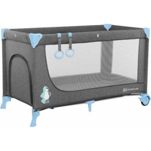 KinderKraft18  Vienlīmeņu bērnu ceļojumu gultiņa
