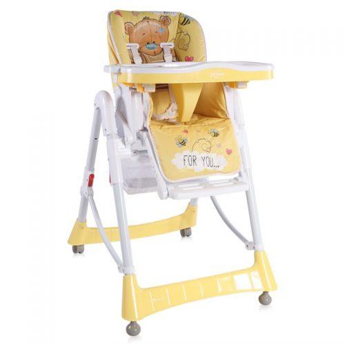 LORELLI PRIMO Barošanas krēsls 6m+ YELLOW BEAR