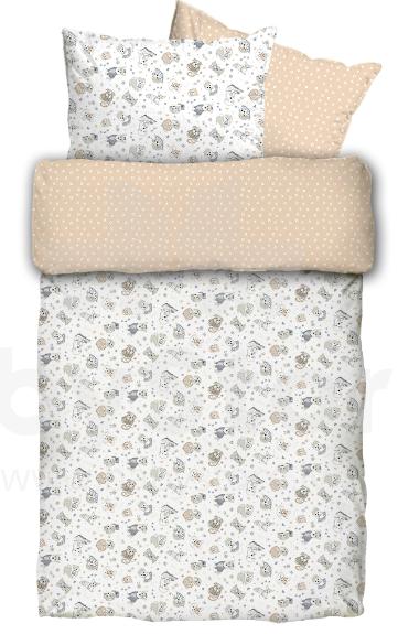 La Bebe Bērnu dabīgas kokvilnas komplekts no 3 daļām 100×140