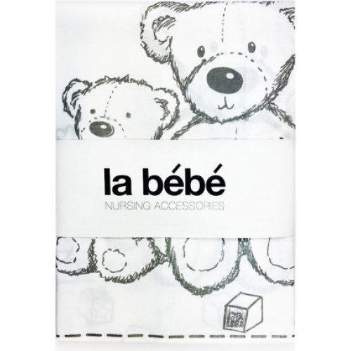 La Bebe  Gultas veļas komplekts 3-dalīgs 105×150 cm White Bears