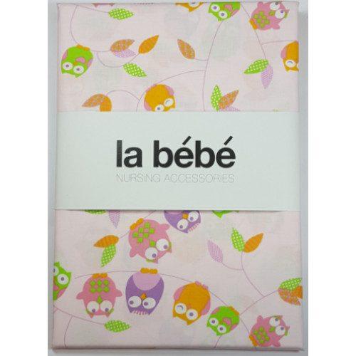 La Bebe Gultas veļas komplekts bērniem 3 -dalīgs Owl Pink