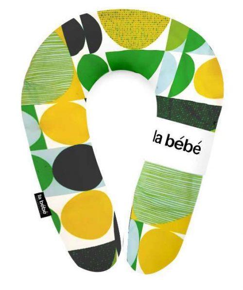 La Bebe  Pakaviņš mazuļa barošana, gulēšanai, pakaviņš grūtniecēm 30x175cm Green&yellow circles