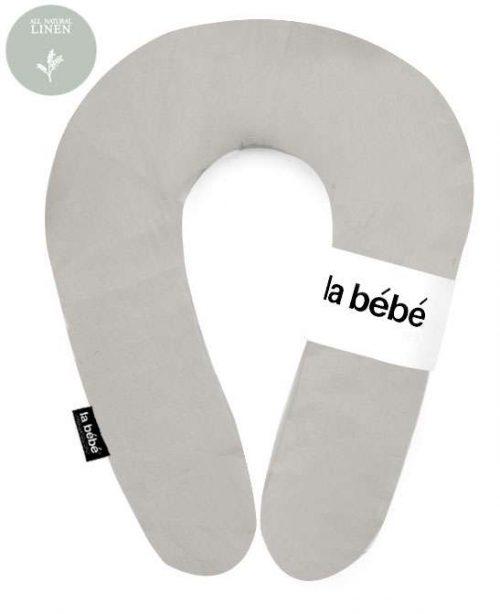 La Bebe Pakaviņš (pakavs) mazuļa barošana, gulēšanai, pakaviņš grūtniecēm 30*175cm  Dark grey