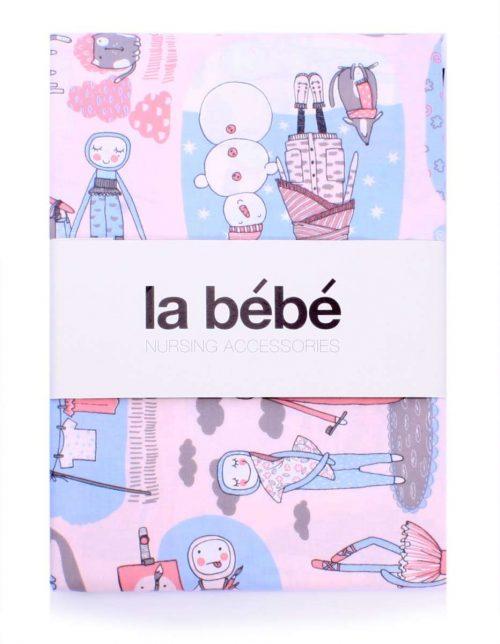 La Bebe  gultas veļas komlekts bērniem – dabīgas kokvilnas ,  no 3 daļām 100×140, 105×150, 40×60 cm Set Natural