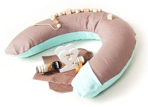 La Bebe pakaviņš mazuļa barošanai un grūtniecēm / gulēšanai /   no dabīga 100% lina 30x175cm.