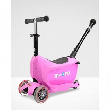 Micro skrejritenis Mini2Go Deluxe Plus rozā
