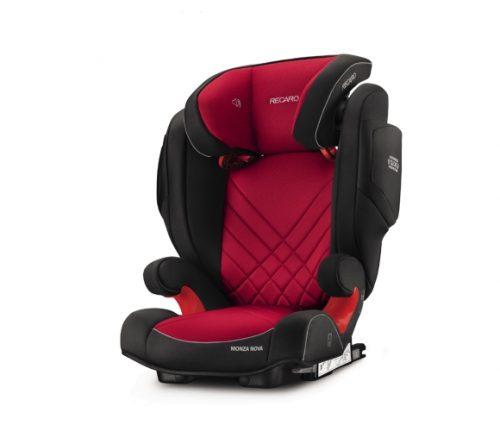 RECARO autokrēsls Monza Nova 2 Seatfix Racing Red 15-36 kg ar iebūvētiem skaļruņiem
