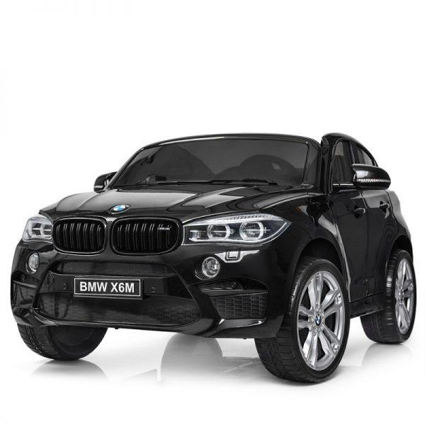TO-MA BĒRNU ELEKTROMOBILIS AR TĀLVADĪBAS PULTI BMW X6M JJ2168 BLACK