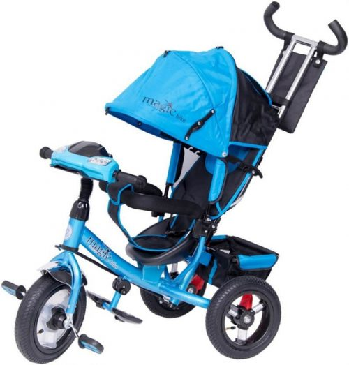 TO-MA TomaBike MAGIC BIKE Bērnu trīsritenis ar pumpējamiem riteņiem zils