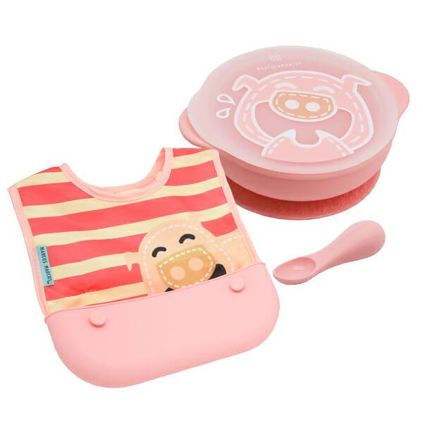 Toddler PATSTĀVĪGA MAZUĻA BAROŠANAS KOMPLEKTS – Pokey ( bļodiņa, karotīte, lacīte)
