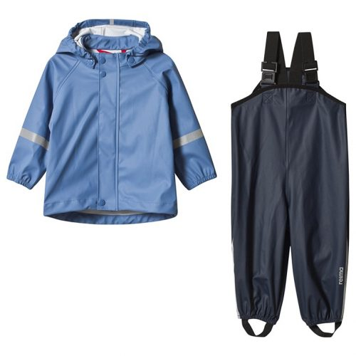 Reima '20 Tihku Bērnu ūdensnecaurlaidīgs starpsezonas komplekts bikses ( lietus bikses )+jaka zila