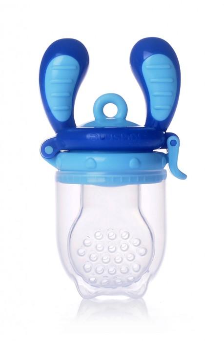 Kidsme Food Feeder bērna ēdināšanas ierīce cietiem produktiem (liels), Aquamarine, no 6 mēn. fīderis zīdainim