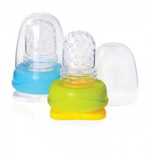 Kidsme Food Pouch adapteris mazuļa ēdināšanai no biezenīšu stāvpakām 2 gab,Sky&Lime
