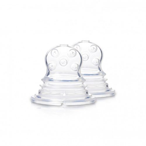 Kidsme Food Squezeer patentēts silikona uzgalis ar krustveida caurumiem šķidrai pārtikai, 2 gab., no 4 mēn.