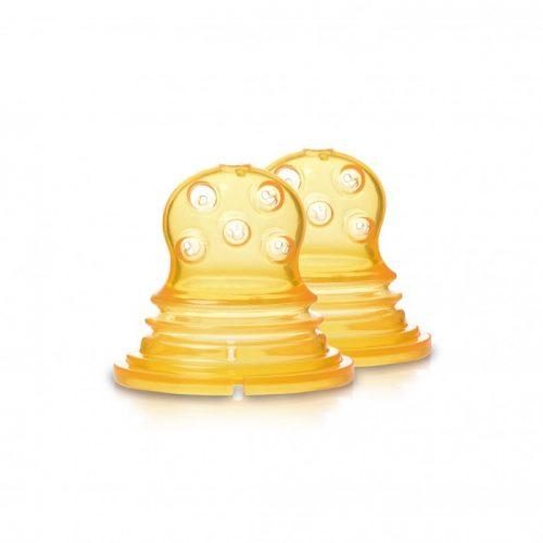 Kidsme Food Squezeer patentēts silikona uzgalis ar lieliem caurumiem pusšķidrai pārtikai, 2 gab., no 4 mēn.