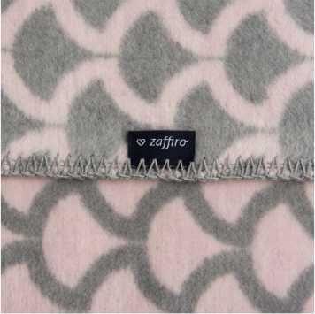 WOMAR Kokvilnas pleds 100x75cm Grey/pink PUSAPLIS