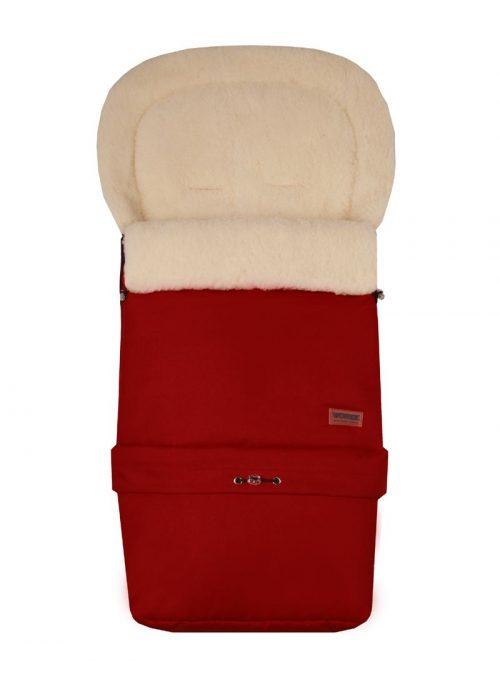 WOMAR MULTI ARCTIC ratu guļammaiss ar aitas vilnas oderi (ar pagarinājumu) N20, DARK RED 4.2