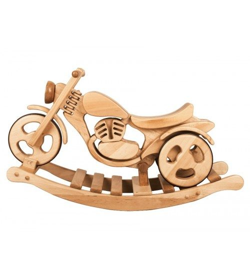 Šūpuļmotocikls koka Kandu Classic divi vienā staigulis un šūpoles
