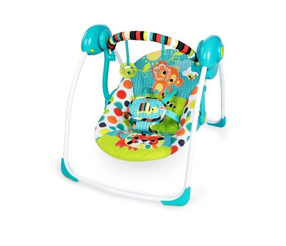BRIGHT STARTS pārnēsājams šūpuļkrēsls Kaleidoscope Safari