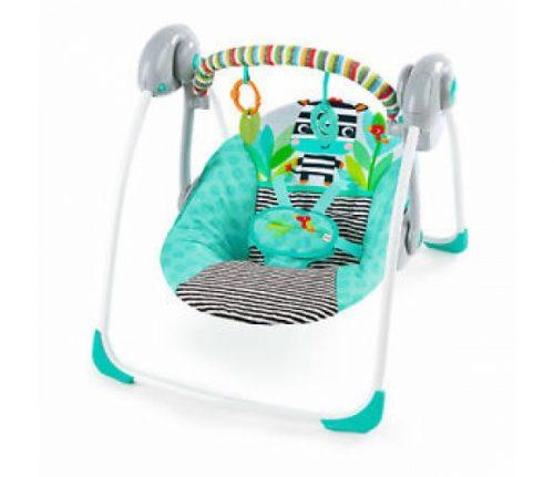 BRIGHT STARTS pārnēsājams šūpuļkrēsls Zig Zag Zebra