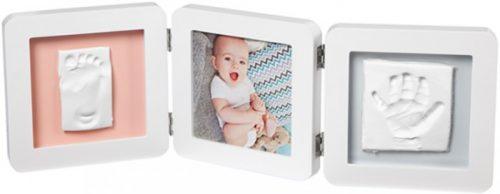 Baby Art Double 2P Essentials komplekts mazuļa pēdiņu/rociņu nospieduma izveidošanai, balts