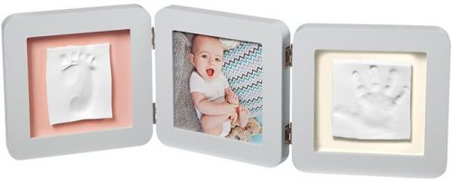 Baby Art Double 2P Essentials komplekts mazuļa pēdiņu/rociņu nospieduma izveidošanai, pastel