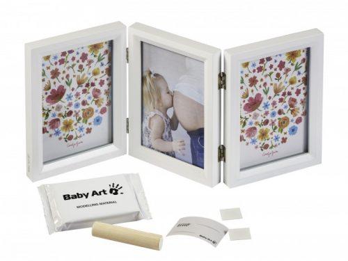 Baby Art Double Print Frame Carolin Style komplekts mazuļa pēdiņas/rociņas nospieduma izveidošanai