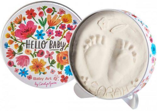 Baby Art Magic Box Carolin Flowers komplekts mazuļa pēdiņas/rociņas nospieduma izveidošanai