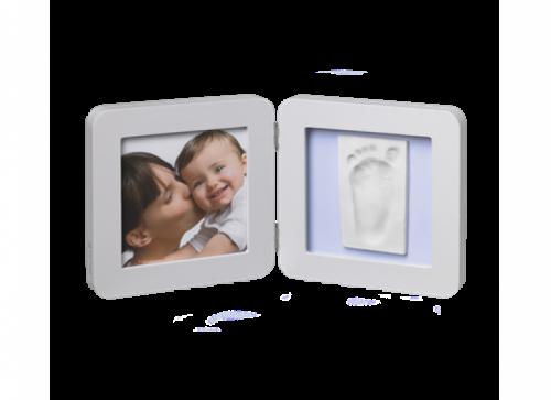 Baby Art Modern Trendy Print Frame komplekts mazuļa pēdiņu/rociņu nospieduma izveidošanai, pastel