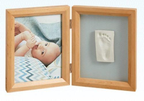 Baby Art Print Frame My baby Touch komplekts mazuļa pēdiņu/rociņu nospieduma izveidošanai, honey