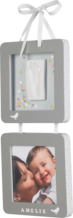 Baby Art  Print Frame komplekts mazuļa pēdiņu/rociņu nospieduma izveidošanai, grey