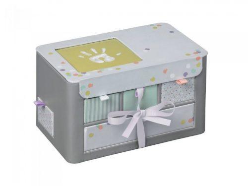 Baby Art personalizētā bērnības atmiņu lāde, grey