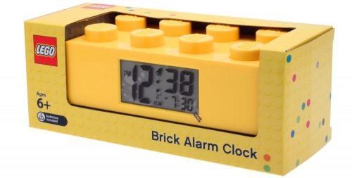 CLICTIME Galda pulkstenis Lego klucis, dzeltens