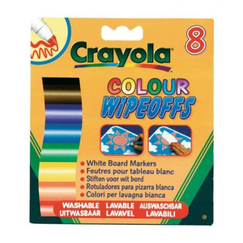 Crayola Izmazgājamie flomasteri tāfelei, 8 gb.