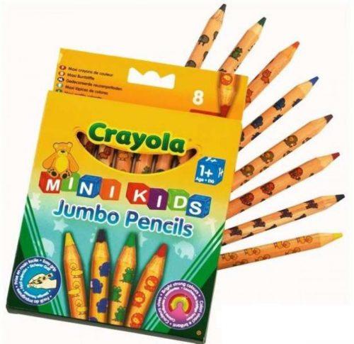 Crayola MiniKids Jumbo zīmuļi, 8 gb.