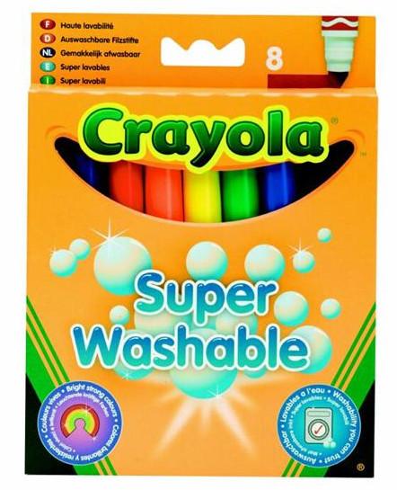 Crayola viegli izmazgājamie flomāsteri, 8 gb.