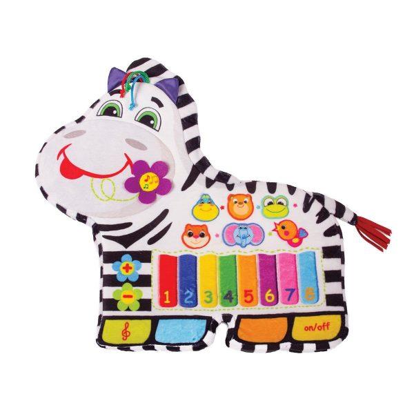 Happy Snail Muzikālā rotaļlieta – zebra
